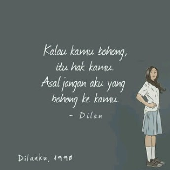 kata kata novel dilan