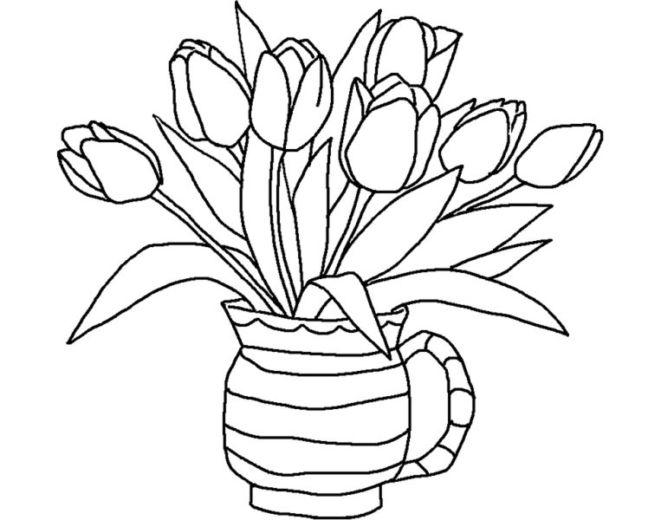 20 Gambar Sketsa Kumpulan Gambar Sketsa Bunga Pemandangan Kartun