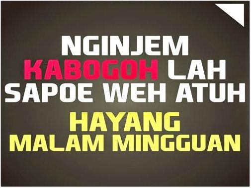 Kata Kata Mutiara bahasa sunda bisa buat status fb