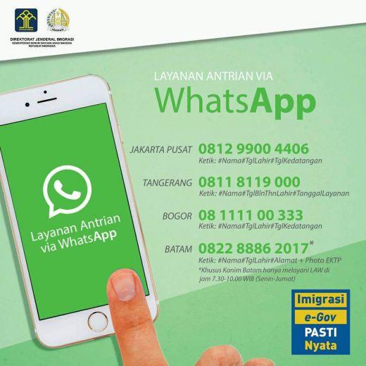 Cara Daftar Antrian Online Buat Paspor Baru lewat WhatsApp (WGS)