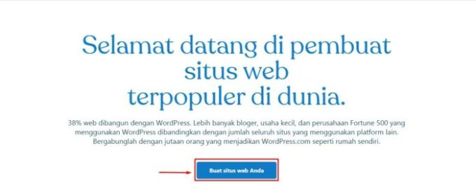 buat wordpress