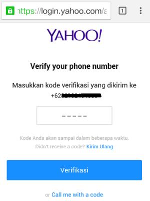 cara buat email yahoo lewat hp ( verifikasi nomer hp)