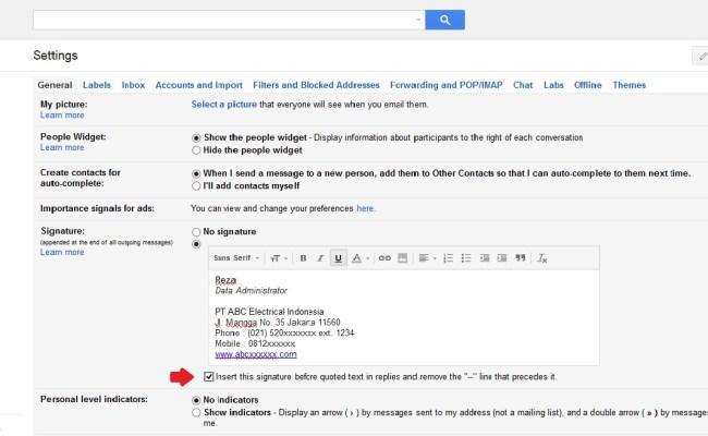 Cara Membuat Signature Tanda Tangan Di Gmail Cute766