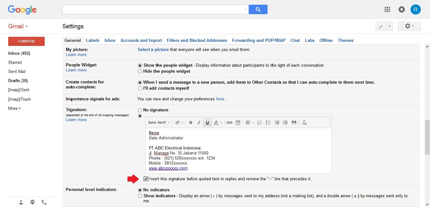 Cara mudah membuat Signature di email Gmail | bukugue.com