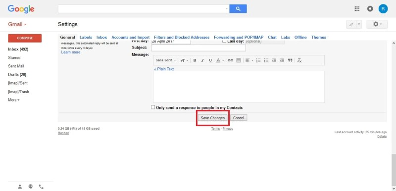 Simpan tanda tangan atau signature di email Gmail