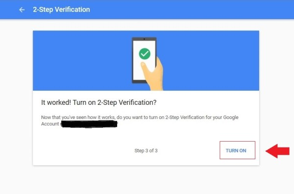 Aktifkan verifikasi 2 langkah masuk ke akun Google