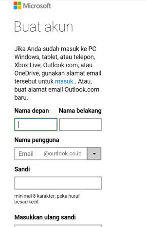 cara membuat akun email outlook lewat hp, cara daftar email outlook lewat hp