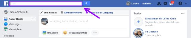 cara mencolek teman di facebook