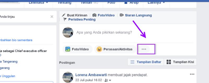 membuat status daftar list di facebook