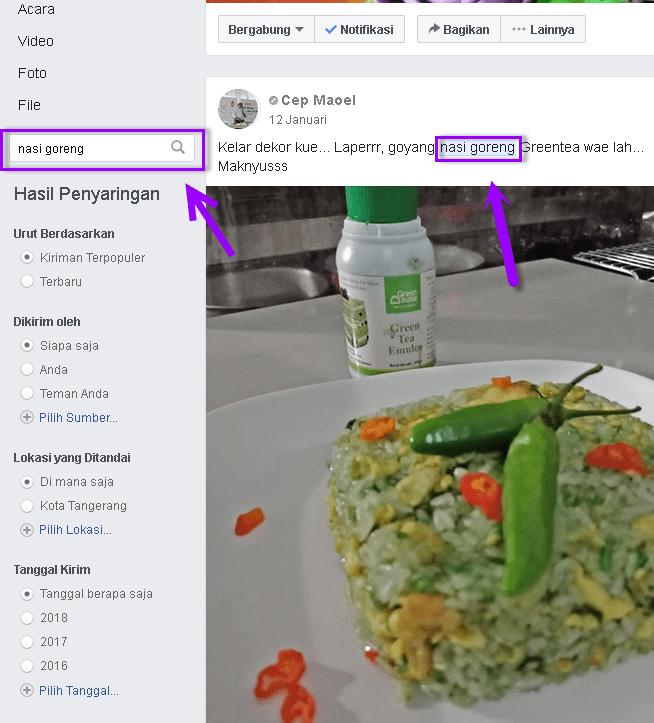 Cara mudah mencari postingan lama di Grup Facebook