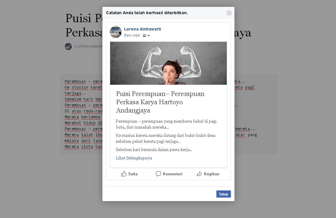 Cara membuat Catatan (notes) di Facebook