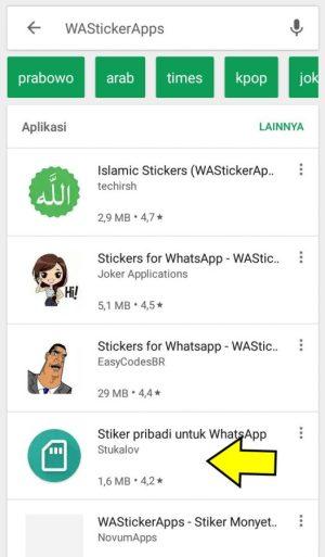 Gambar 11. Aplikasi Stiker WhatsApp