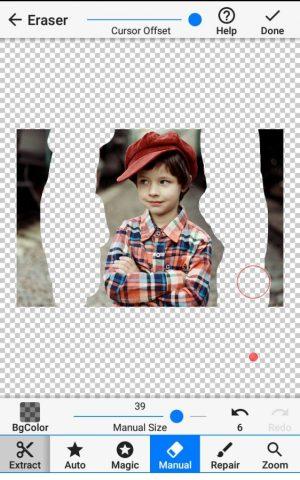 Gambar 6. Proses Menghapus Background Foto