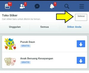 Pilih stiker dan download