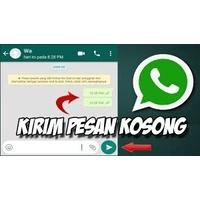 Cara membuat text kosong/blank di Info dan Chat Whatsapp