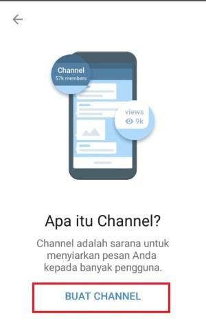 Halaman info yang muncul bagi pengguna baru