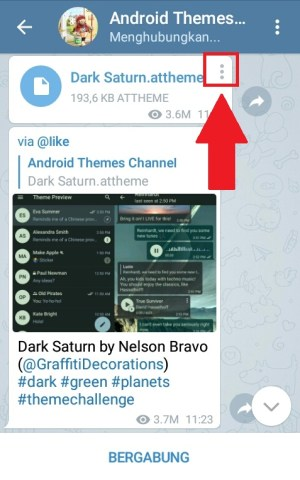 "Tampilan channel ""Android Themes"""