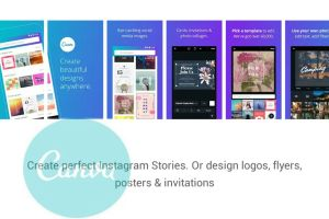"""""""Canva"""" Sumber : Capture from Playstore"""