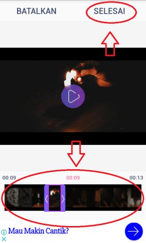 Memotong video yang akan dijadikan GIF.