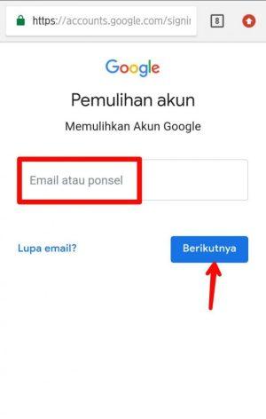Ketik alamat email atau ponsel kamu