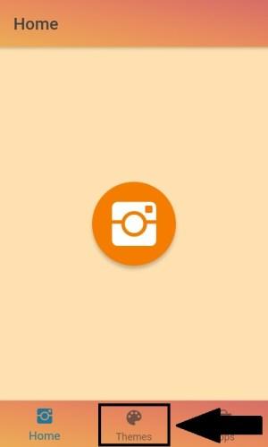 """Tampilan halaman awal aplikasi """"Colors for Instagram"""""""