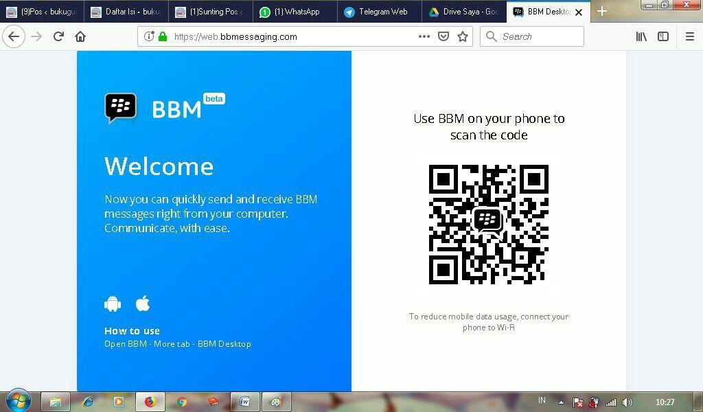 Laman Web BBM/BBM Desktop