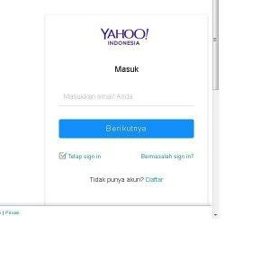 Masukkan alamat email Yahoo kamu, kemudian tap berikutnya