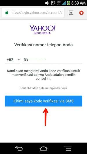 Permintaan verifikasi nomor ponsel