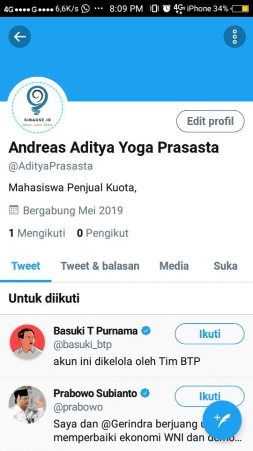 Tap Edit Profil
