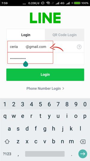 Login dengan email yang telah kamu tambahkan di akun Line kamu.