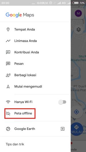 Buka Google Maps untuk mengunduh peta offline.