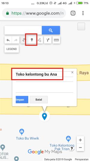 Tandai lokasi dan beri nama lokasinya.