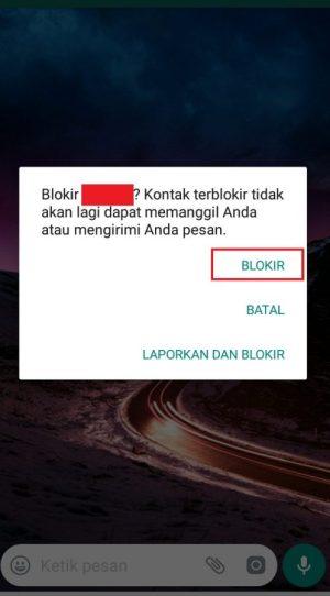 """pilih """"Blokir"""" untuk benar benar memblokir"""