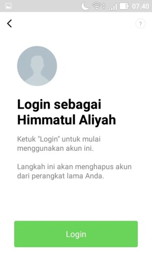 pilih menu Login