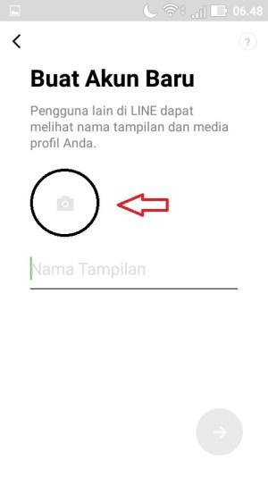 Unggah foto profilmu dengan cara menekan ikon kamera