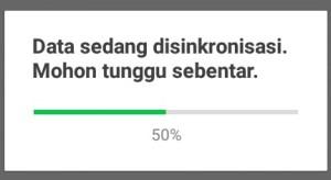 Tunggu proses loadingnya hingga 100%.