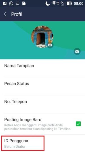 Pilih menu ID Pengguna