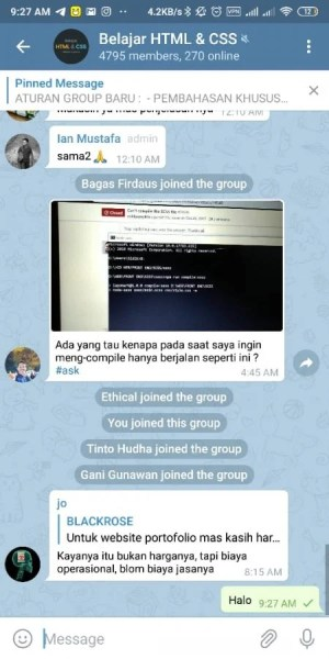 Group HTML dan CSS