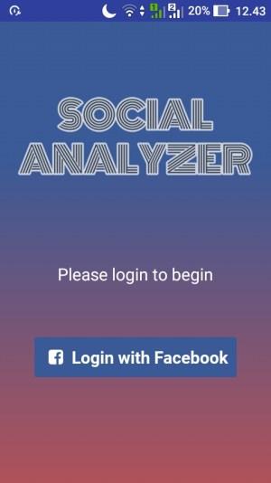 Ketuk menu Login with Facebook
