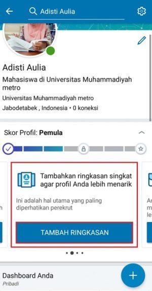 Membuat resume di LinkedIn
