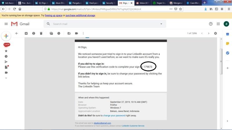 periksa kotak masuk email kalian