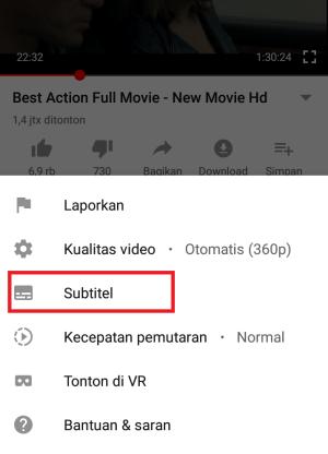 klik menu subtitle