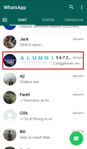 pilih grup whatsapp