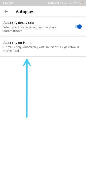 autoplay on home