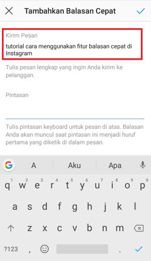 tulis huruf yang biasa di gunakan untuk membalas pesan chat