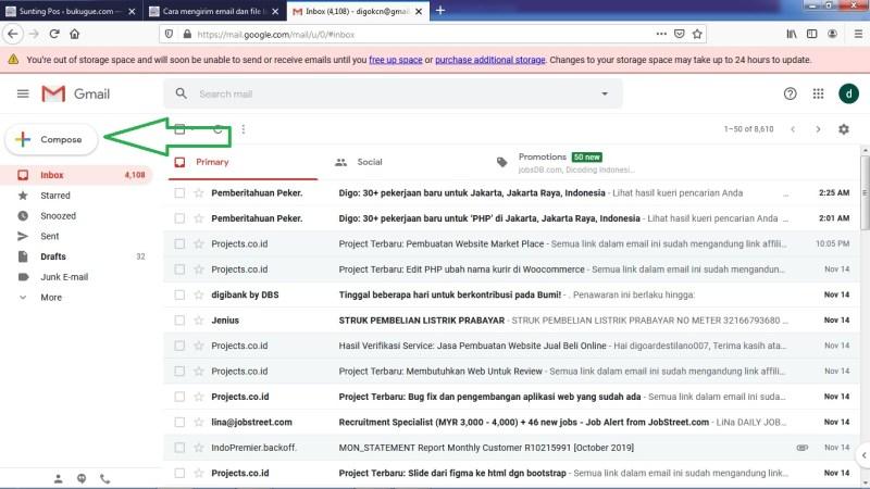 Halaman awal Gmail