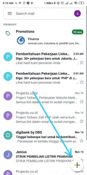 Masuk ke Aplikasi Gmail