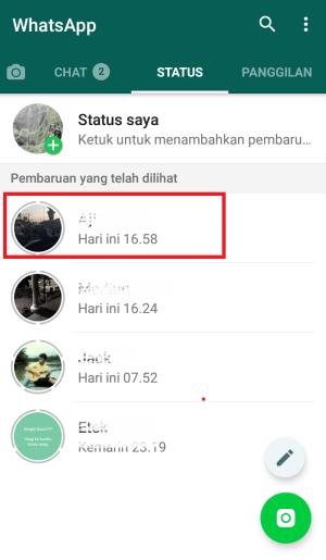 buka tab status
