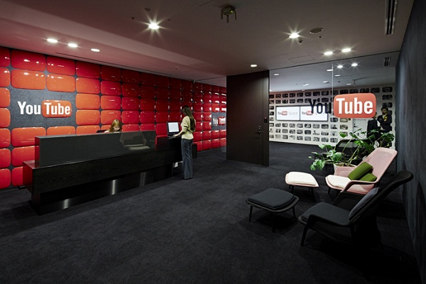 Youtube   Image By: http://www.home-designing.com/2013/09/googles-tokyo-presence-youtube-and-google-tokyo-offices/29-youtube-logo-wall