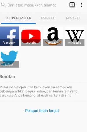 Antarmuka Firefox Browser